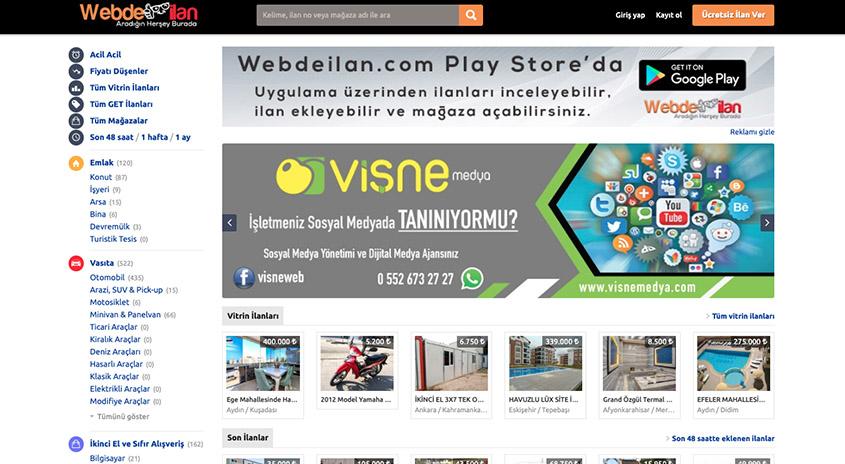 Webdeilan.com - Ücretsiz İlan Sitesi